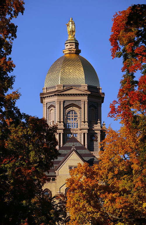 Notre Dame in fall