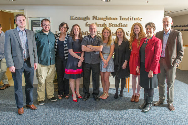 Irish Langiage and Literature Faculty with graduating majors