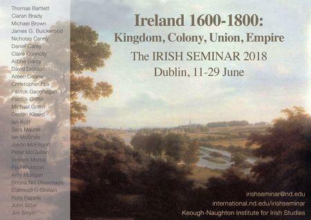 2018 Irish Seminar