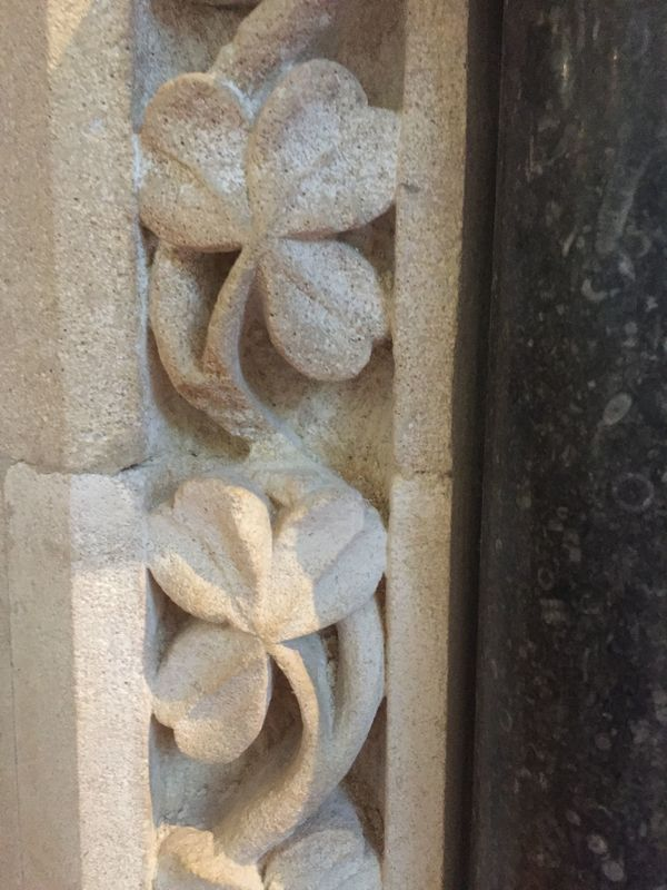 Leaf detail in the architecture at Kylemore Chapel