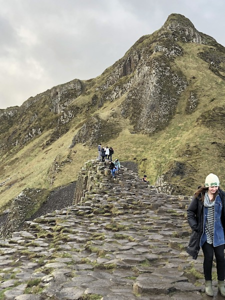 Students at the Giant's Causeway, Co. Antrim
