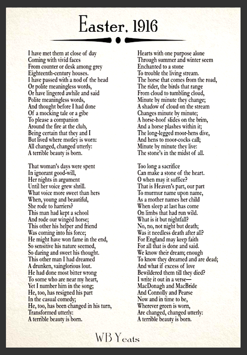Easter 1916 Poem By Wb Yeats